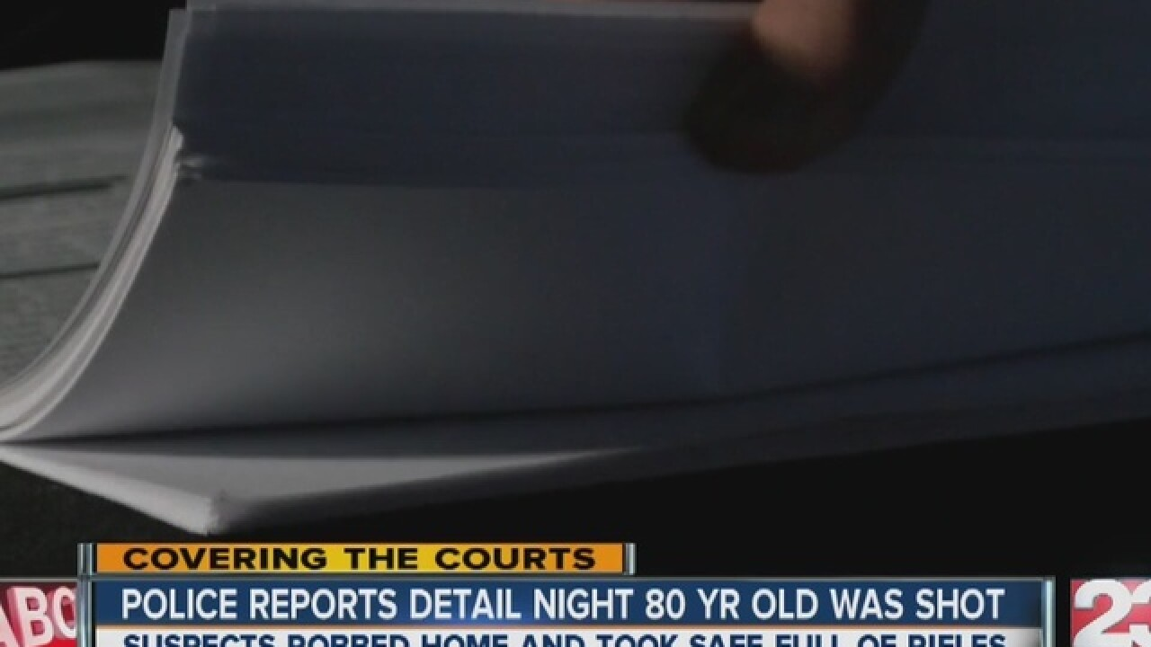 Police reports detail night 80 yr old was shot
