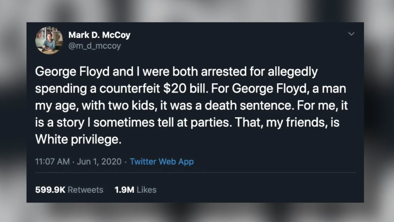 Professor's tweet comparing his arrest with George Floyd's experience goes viral