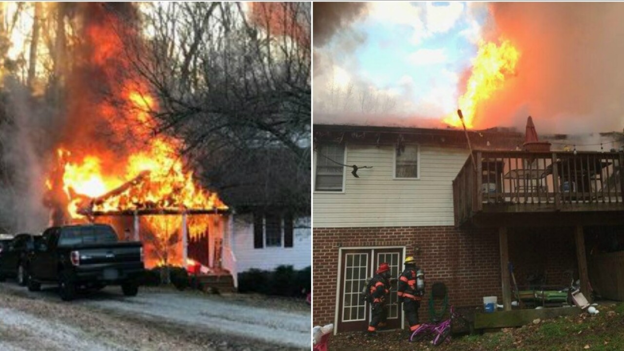 Fire engulfs Mechanicsville home; 3 dogs killed