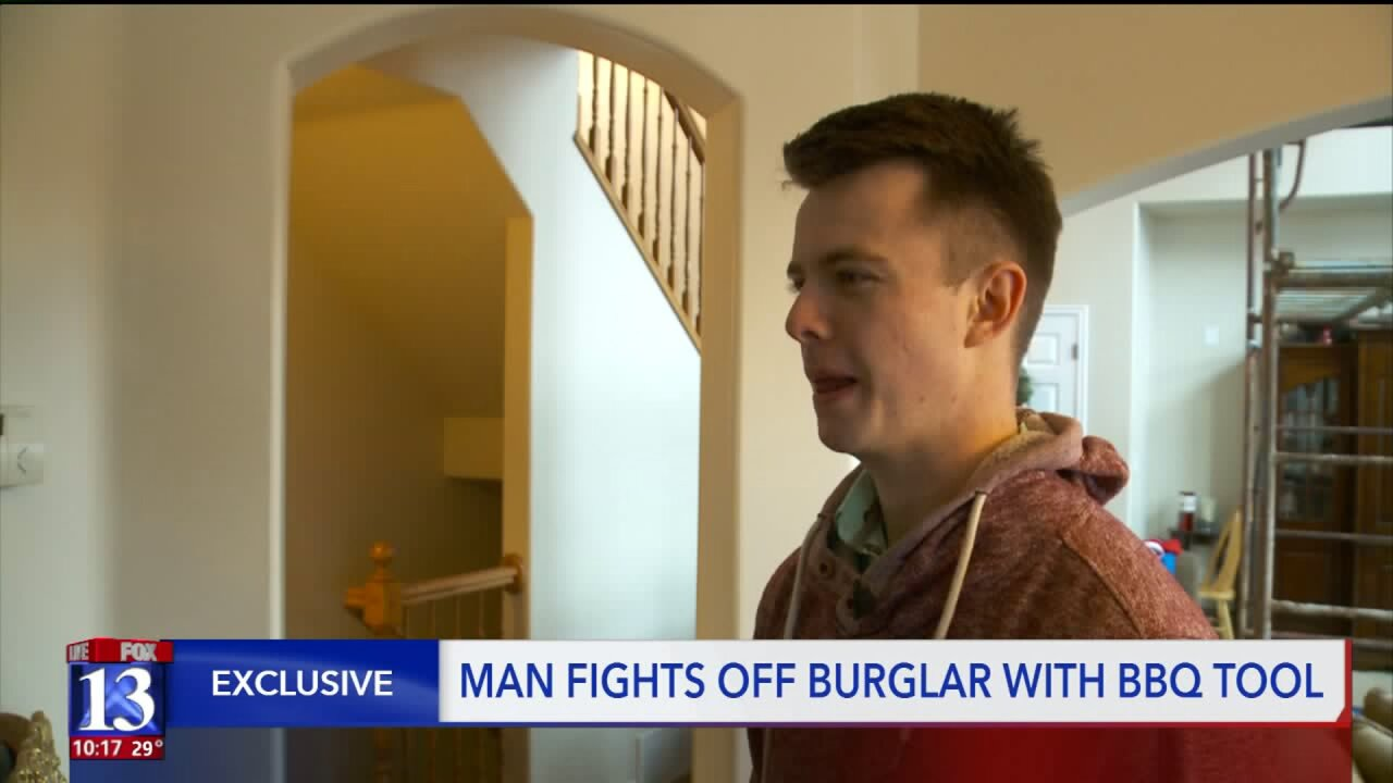 Utah man hears burglar in home, fights him off with BBQ fork