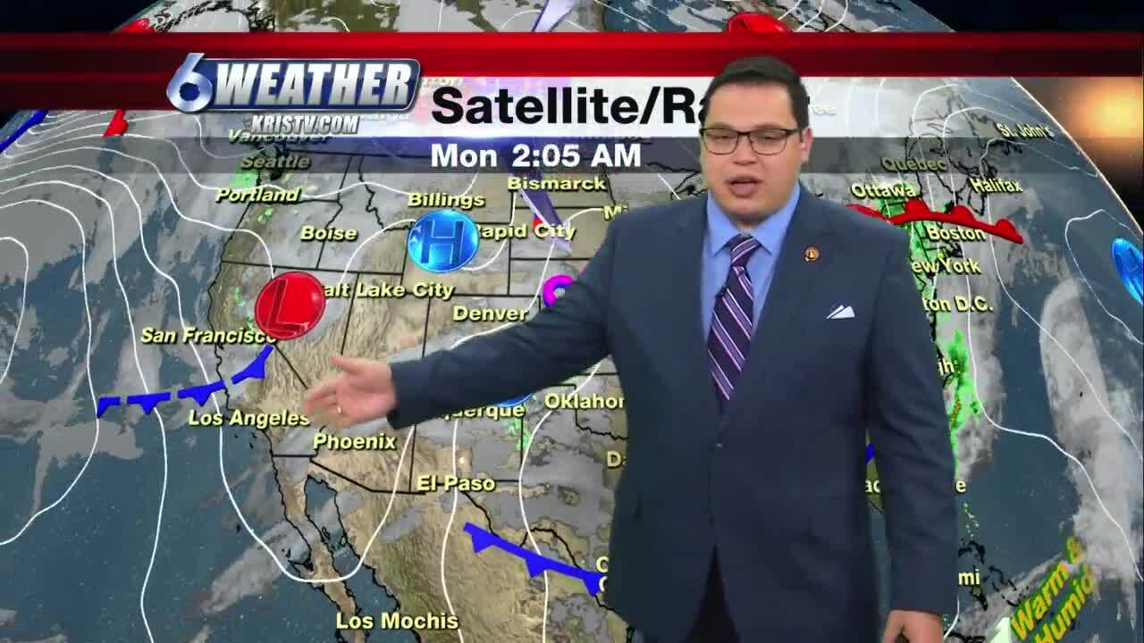 Sunny, windy with chance for few stray showers on Tuesday