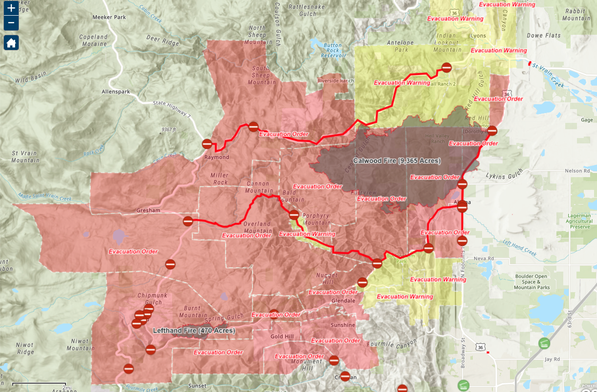 Calwood and Lefthand Canyon Fire_Oct 20 2020