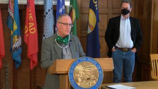 Dr. Holzman addresses press at Governor's COVID press conference
