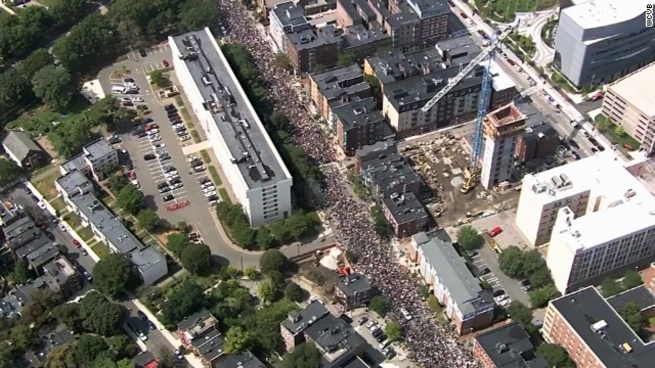 Thousands march in Boston in protest of controversial rally