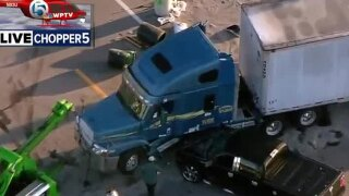 Pickup tuck, semi crash in South Bay causes 50-gallon fuel spill