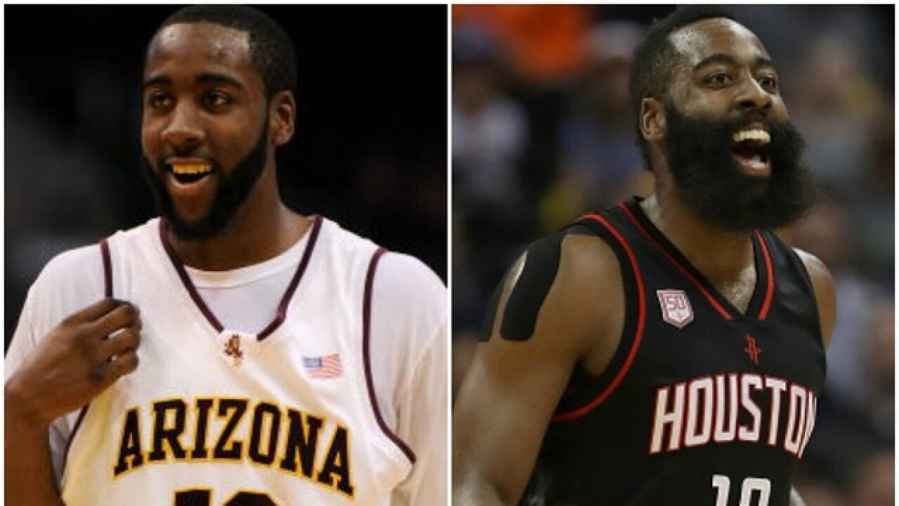 wholesale dealer b372f ba11a Former Arizona State Sun Devils star James Harden named 2017 ...