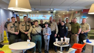 Bricen and law enforcement officers