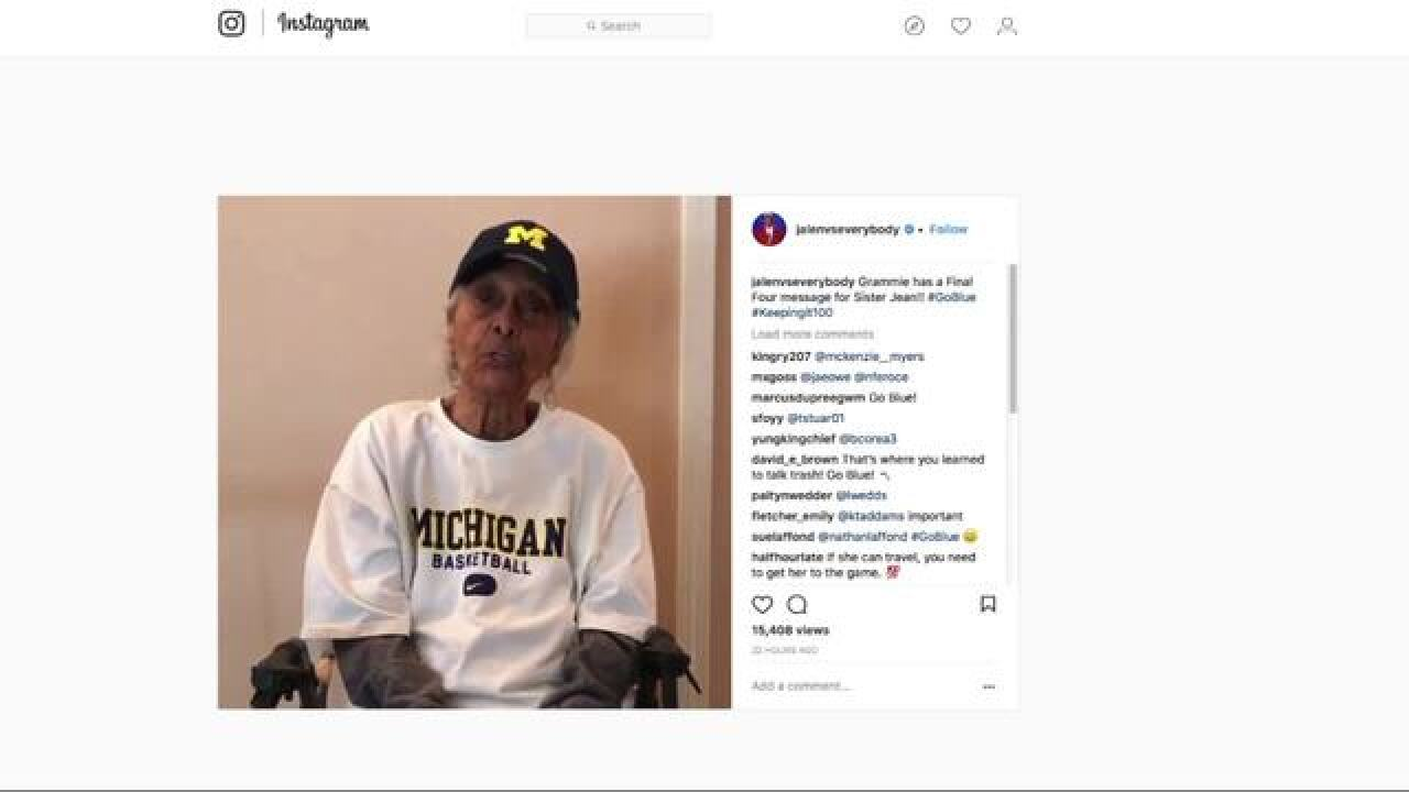 Jalen Rose's 100-year-old grandma calls out Sister Jean ahead of Final Four