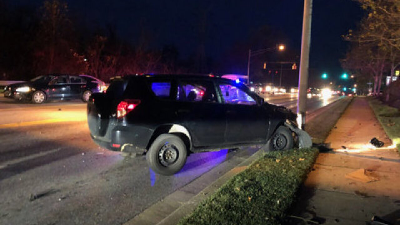 Five people hurt after car falls off ledge