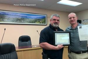 "Polson police officers honored for ""exceptional service"""