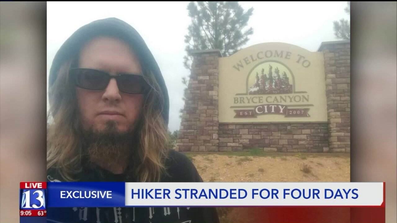 Hiker thankful to be found after being lost for four days in Bryce Canyon