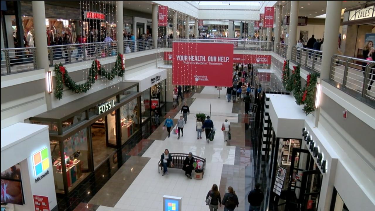 Mall Walden Galleria Christmas Shopping 2019 (stock photo)
