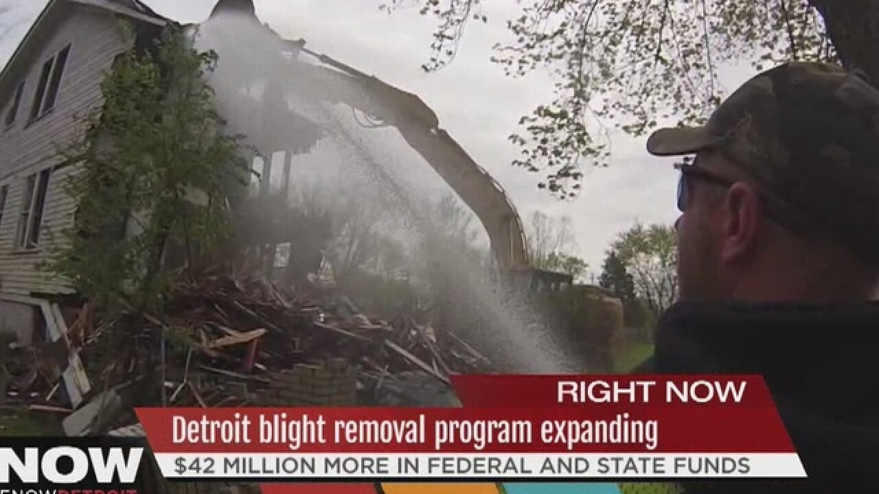 Detroit getting $42M for blight removal program