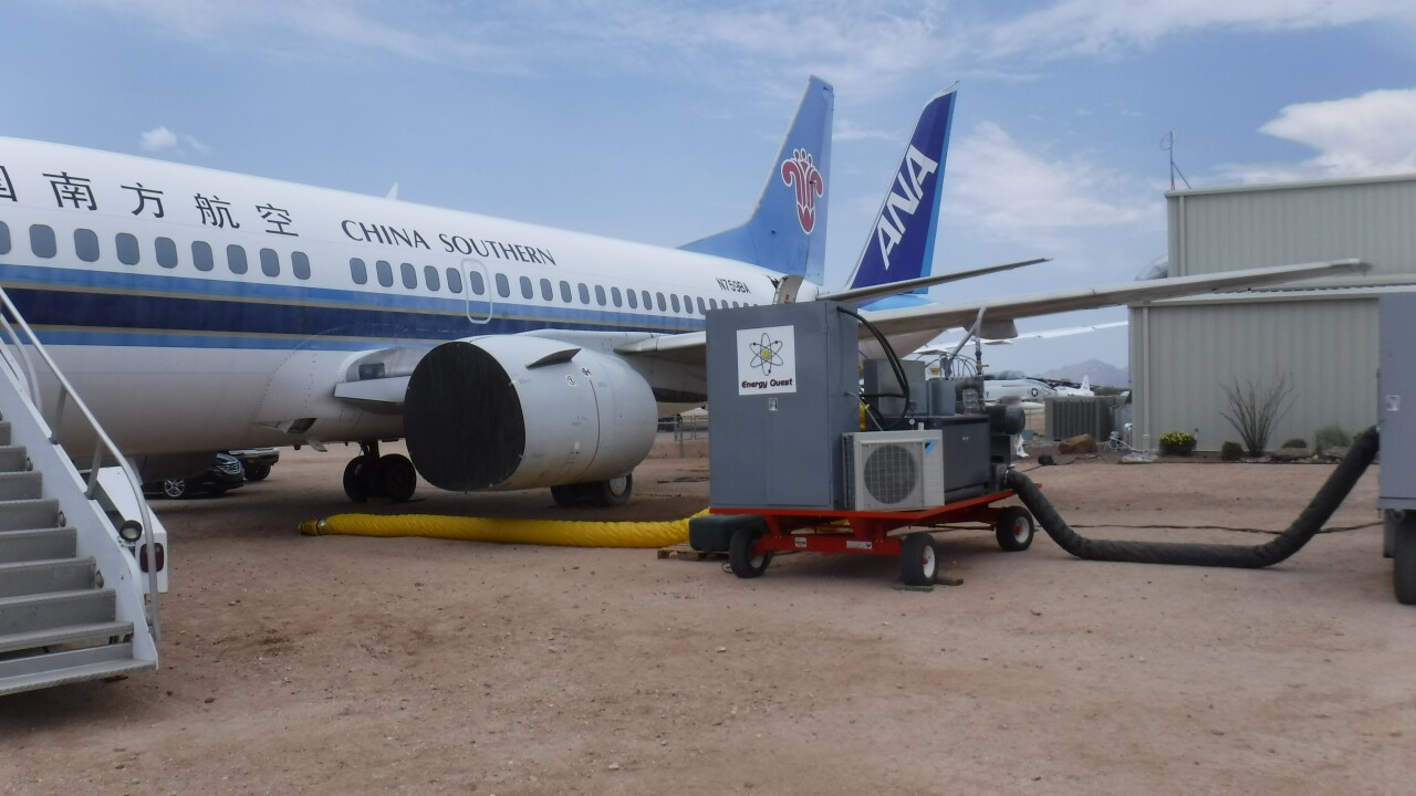 Pima Air & Space 737 used as lab for ozone test as sterilizing method