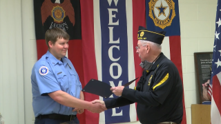 Brad Patterson honored by American Legion