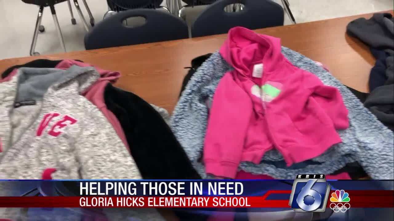 Repurposed lost-and-found jackets are keeping students at Gloria Hicks Elementary School warm