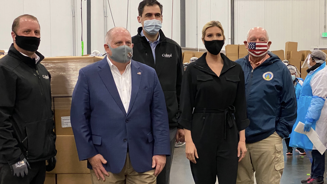 Gov. Hogan with Ivanka Trump (center left and right) and USDA Secretary Sonny Perdue (far right)