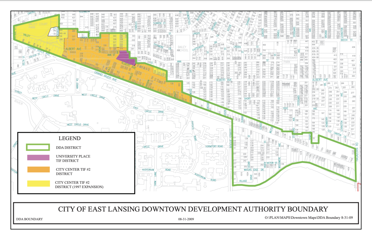 City of East Lansing Downtown Development Authority Boundary
