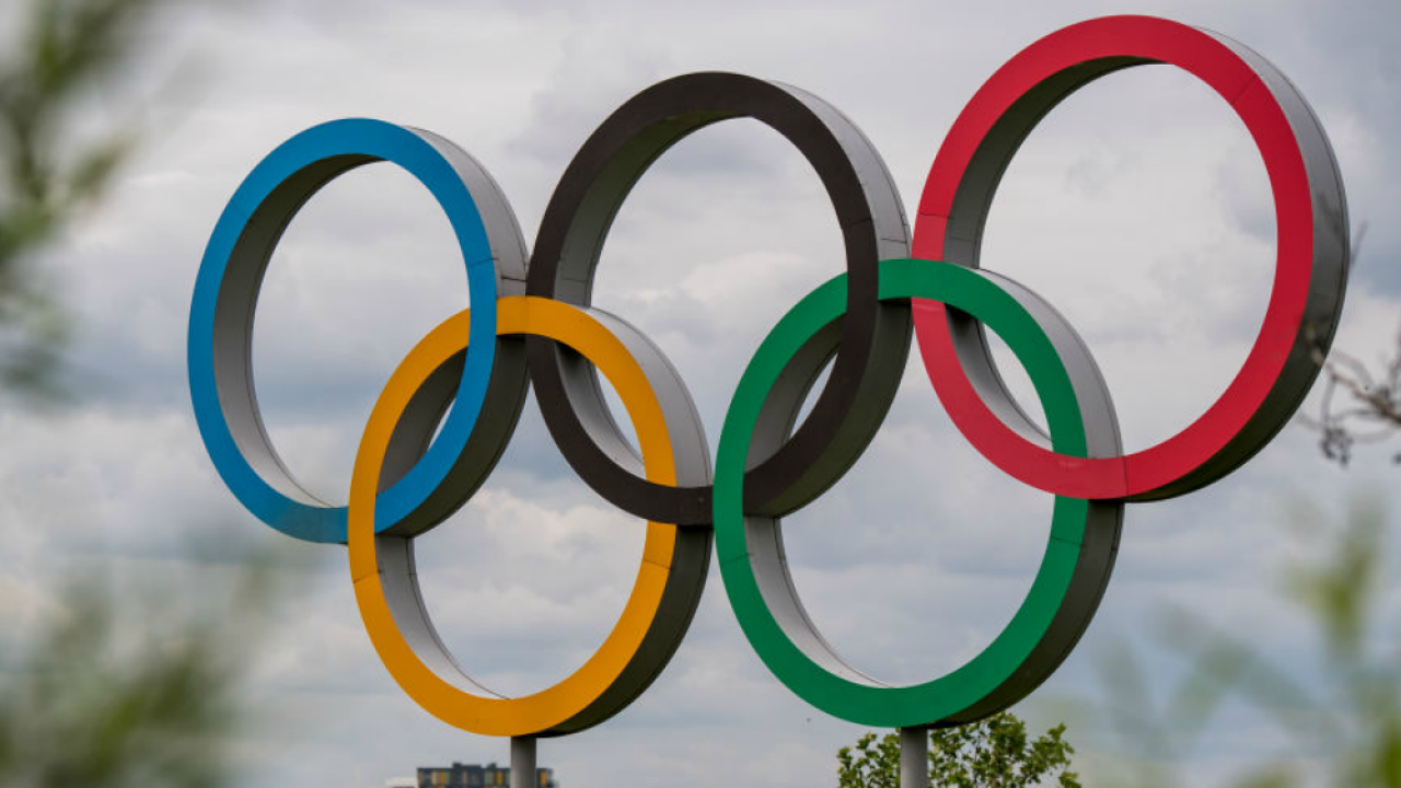 Olympic rings at London Olympic Park