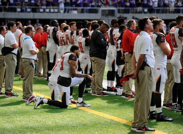 Dozens of athletes kneel during national anthem following President Trump's comments