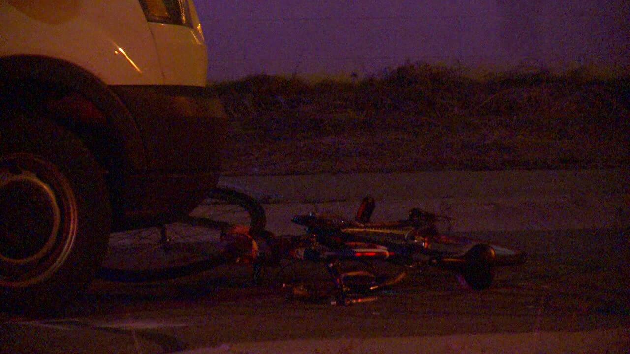 Bicyclist critically injured after being struck by van inSandy