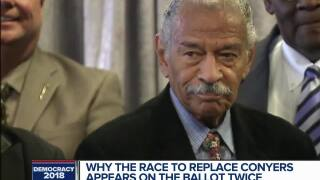 Why the race to replace Conyers appears on the ballot twice