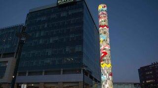 Tower dedicated at Buffett Cancer Center