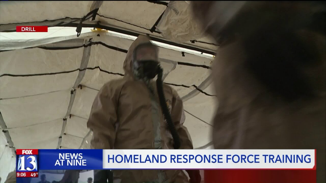 Utah National Guard trains for the unthinkable; a 10 kiloton nuclearblast