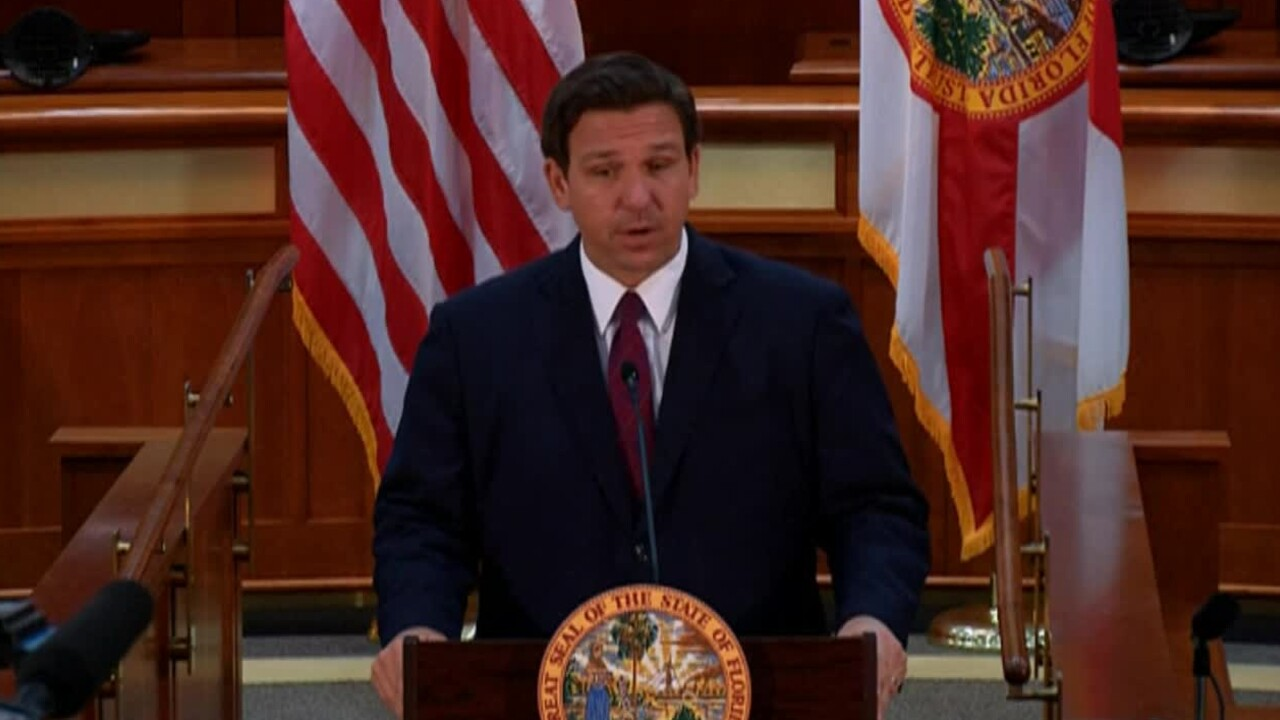 Florida Gov. Ron DeSantis holds a news conference in Tallahassee on March 1, 2021.jpg