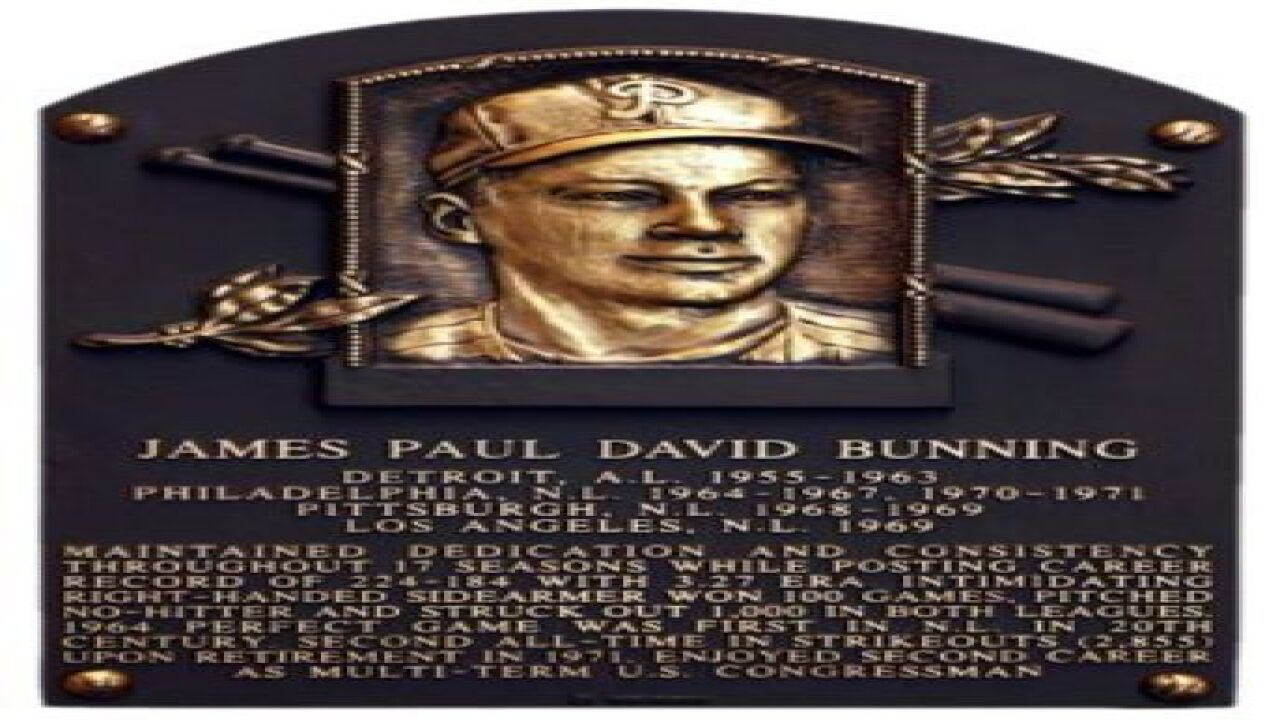 Perfect game set Bunning's place in Hall of Fame