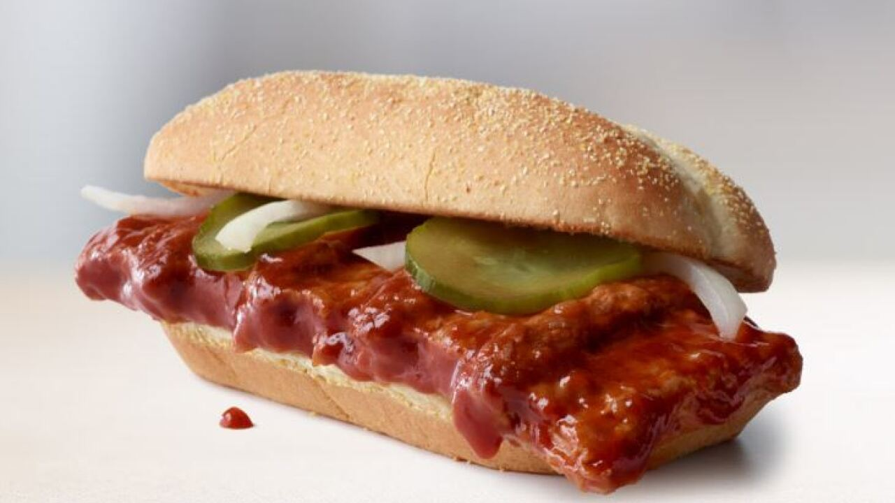 The McRib is back — but only at 10,000 McDonald's locations