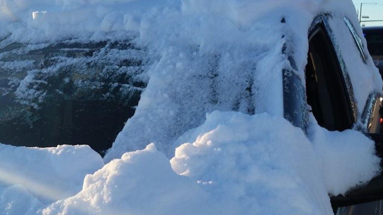Douglas County snow on car 2