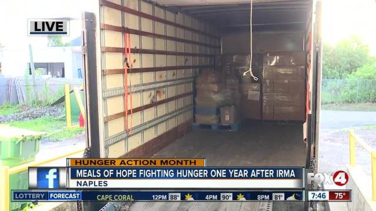 Meals of Hope fights for hunger year after Irma