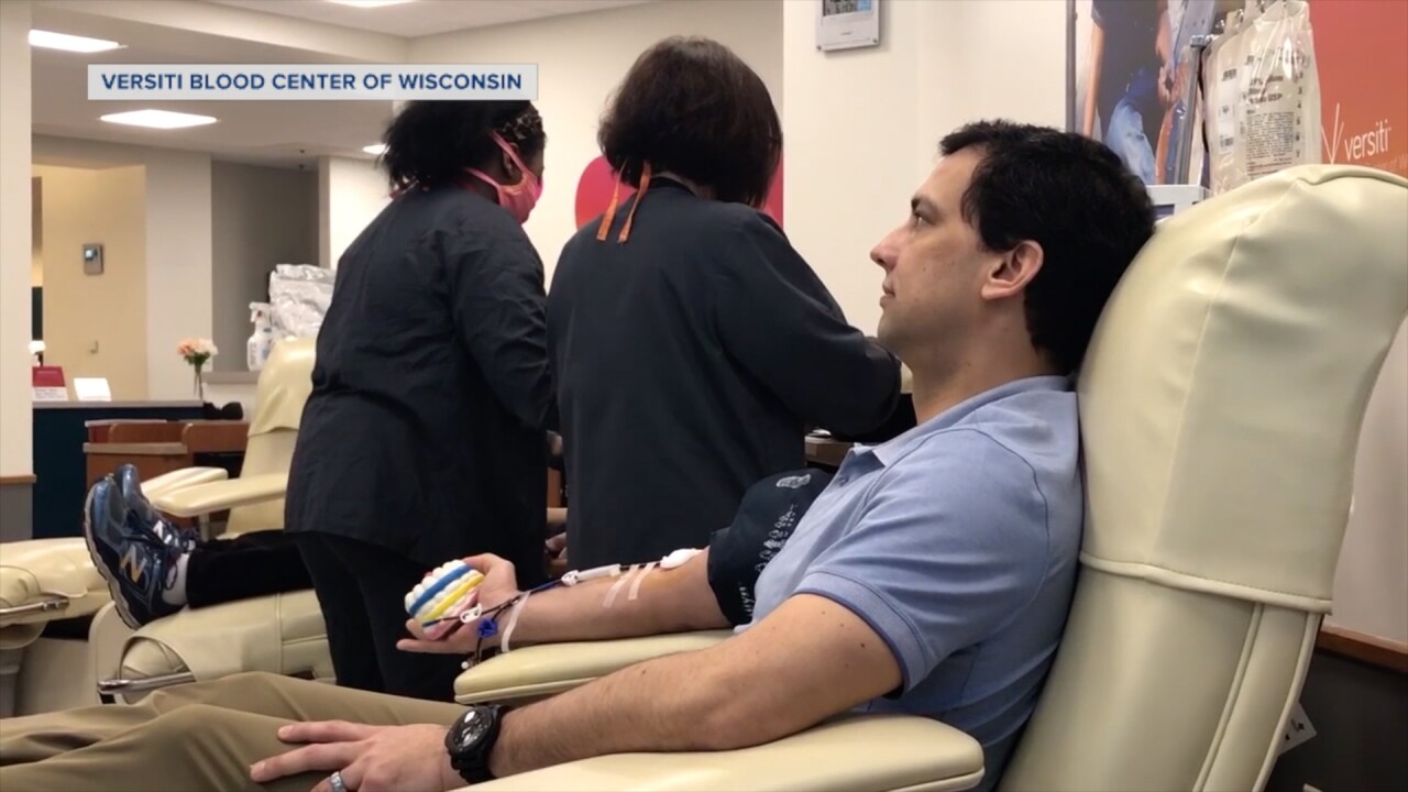 Coronavirus survivor donates plasma in hopes to save lives, one of the first in Wisconsin
