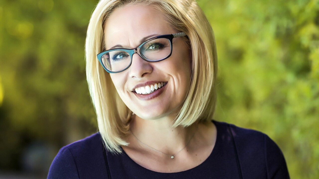 Congratulations pour in for Sinema after beating McSally