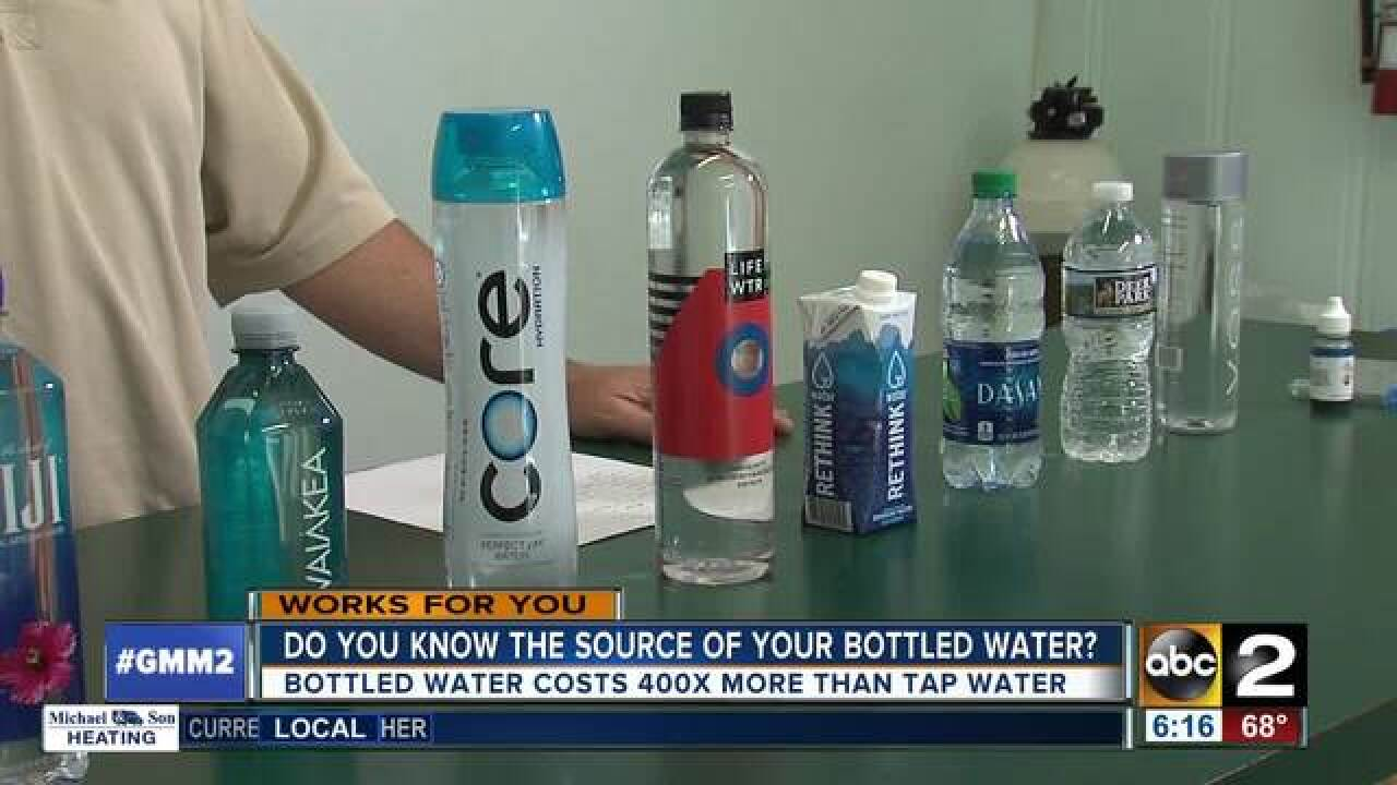 Bottled water around 400x more costly than tap