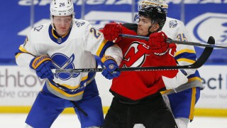 Devils Sabres Hockey Dahlin