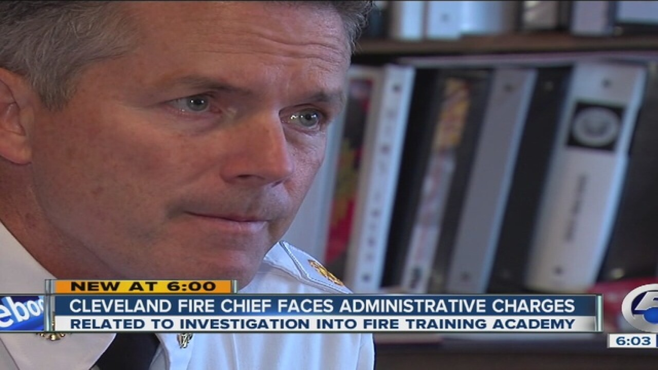 CLE Fire Chief recommended his own charges