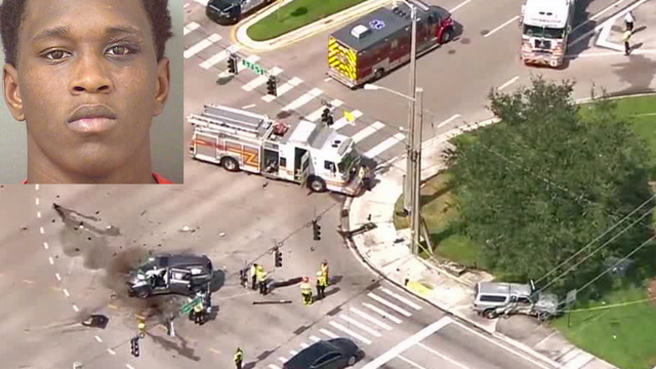 Fort Lauderdale teen charged as adult in Boca Raton crash injuring eight people