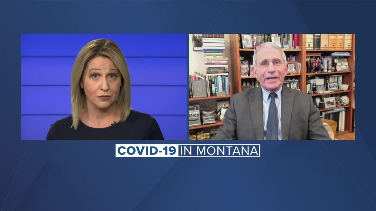 Fauci: 'End in sight' for pandemic, but Montanans need to keep up with mask and distancing guidelines