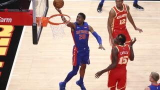 Pistons Hawks Basketball Josh Jackson