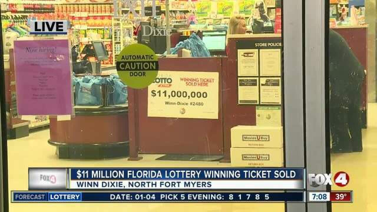 $11 million Lotto ticket claimed in North Fort Myers