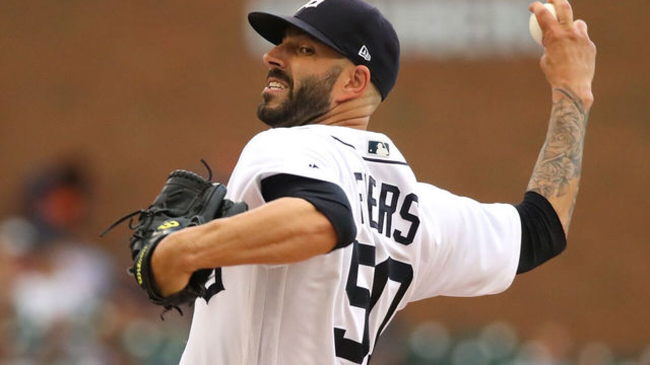Tigers trade pitcher Mike Fiers to Athletics for players to be named later or cash