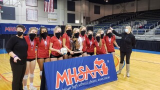 Battle Creek St. Phil celebrates state volleyball championship