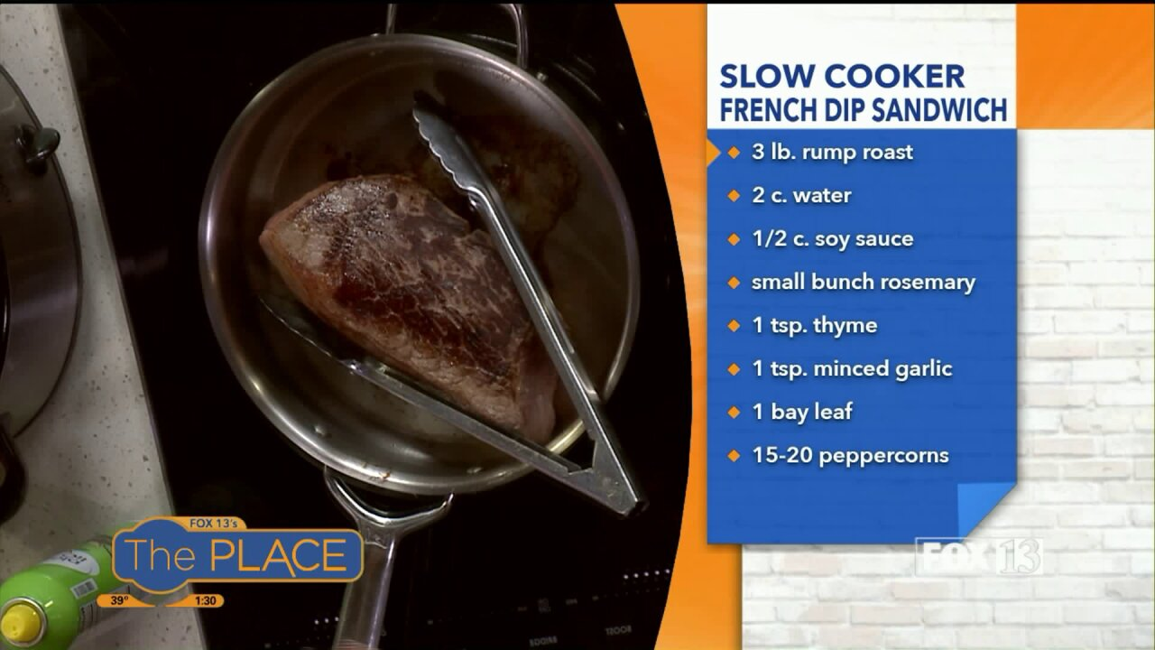 Slow Cooker French DipSandwich