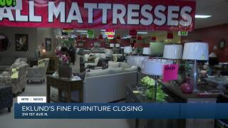 Eklund's furniture store in downtown Great Falls is closing permanently