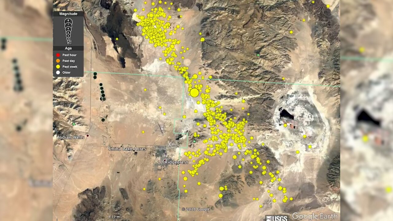 USGS video shows thousands of earthquakes in the past week