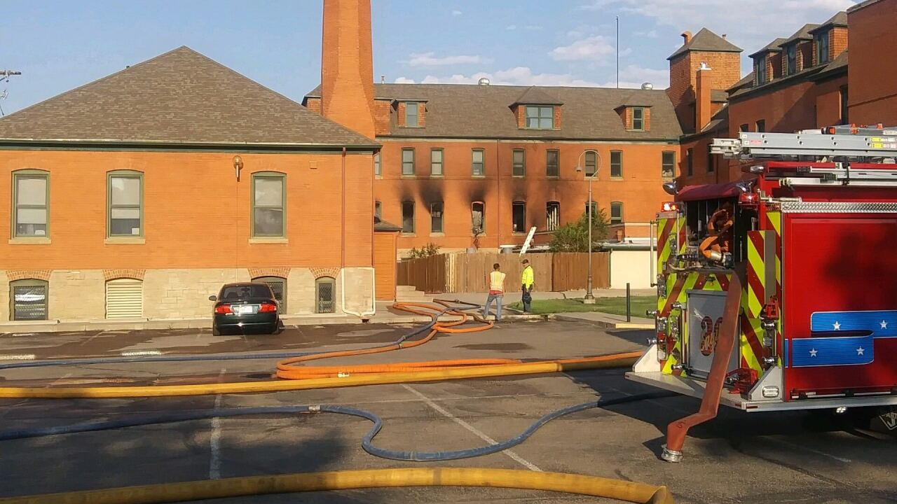 Fire at historic Sacred Heart Orphanage in Pueblo.