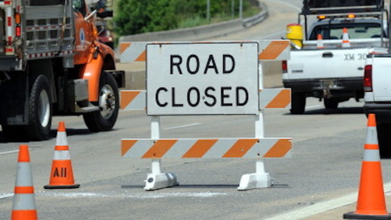 Hickory Road closed due to construction