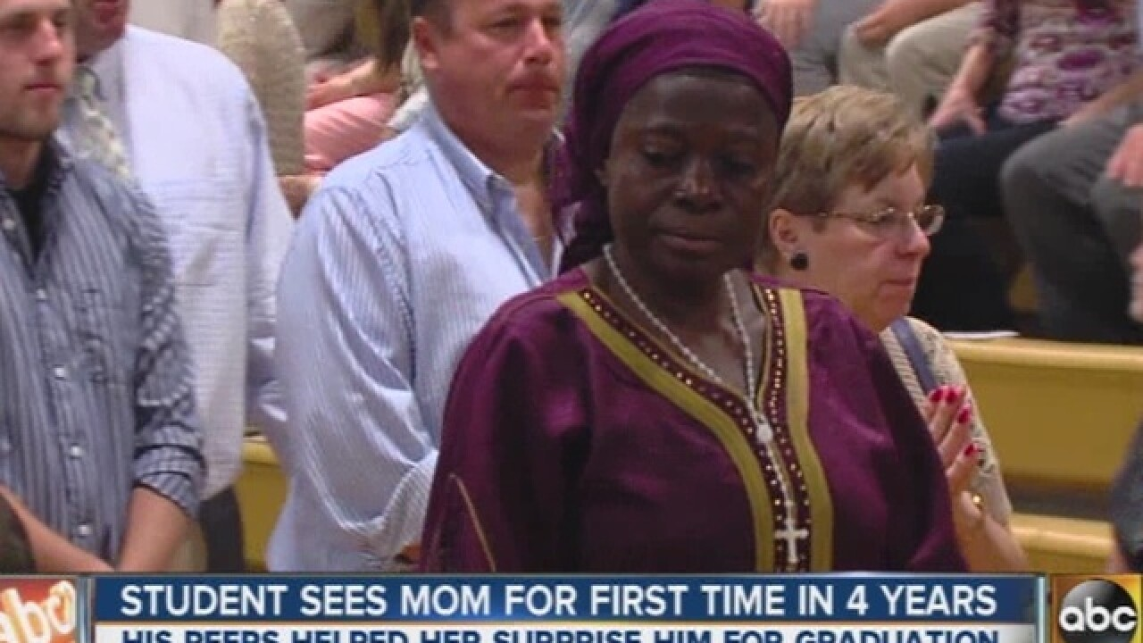 Students fly mom from Nigeria to see graduation